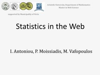 Statistics in the Web