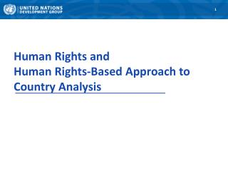Human Rights and Human Rights-Based Approach to Country Analysis