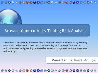 Browser Compatibility Testing Risk Analysis