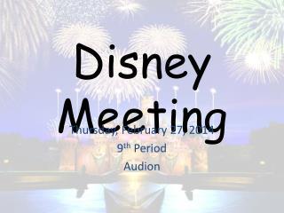 Disney Meeting