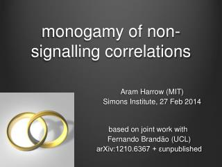 monogamy of non-signalling correlations