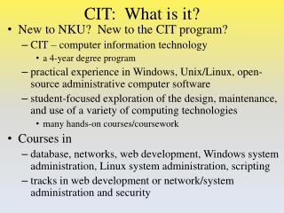 CIT:  What is it?