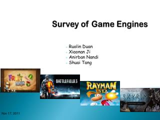 Survey of Game Engines
