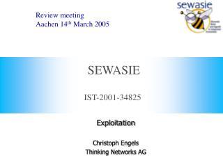 IST-2001-34825 SEWASIE Review meeting