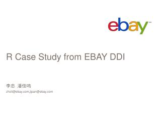 R Case Study from  EBAY  DDI