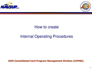 DON Consolidated Card Program Management Division (CCPMD)