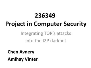 236349  Project in Computer Security