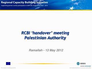 RCBI 'handover' meeting Palestinian Authority