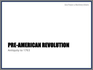Pre-American Revolution
