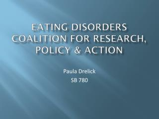 Eating Disorders Coalition for research, policy & Action