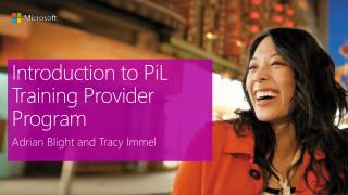 Introduction to PiL Training Provider Program