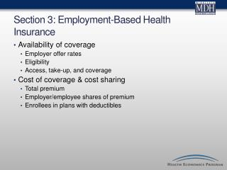 Section 3: Employment-Based Health Insurance