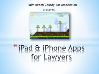 iPad  & iPhone Apps for Lawyers