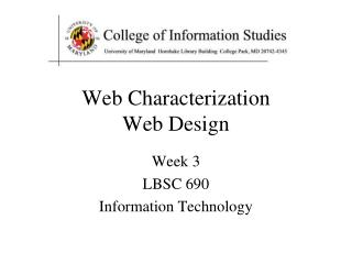 Web Characterization Web Design