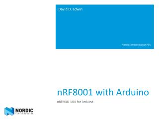 nRF8001 with Arduino