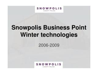 Snowpolis Business Point Winter technologies