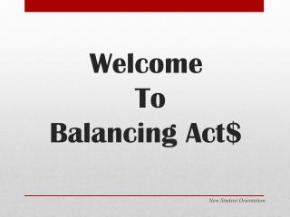 Welcome  To  Balancing Act$