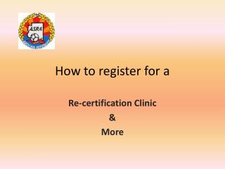 How to register for a
