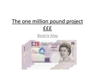 The one million pound project £££