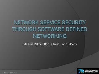 Network Service Security through software defined networking