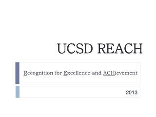 UCSD REACH