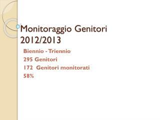 Monitoraggio Genitori 2012/2013