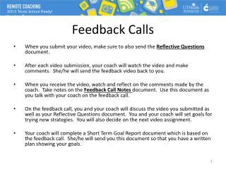 Feedback Calls