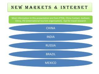 NEW MARKETS & Internet