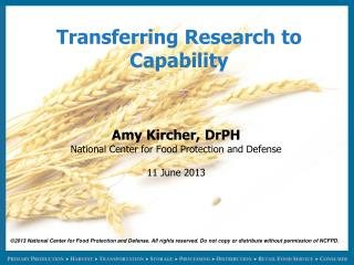 Transferring Research to Capability