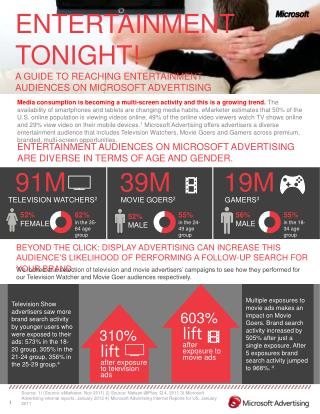 ENTERTAINMENT TONIGHT! A GUIDE TO REACHING ENTERTAINMENT AUDIENCES ON MICROSOFT ADVERTISING