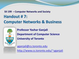 Handout # 7: Computer Networks & Business