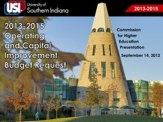 2013-2015 Operating  and Capital  Improvement  Budget Request
