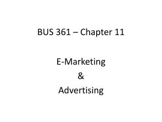 BUS 361 – Chapter 11