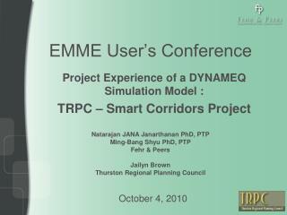 EMME User's Conference