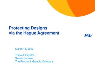 Protecting Designs via the Hague Agreement