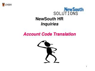 NewSouth HR Inquiries Account Code Translation