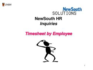 NewSouth HR Inquiries Timesheet by Employee