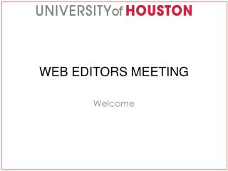 Web Editors Meeting