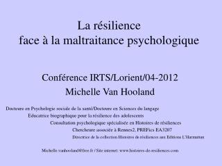 La r�silience  face � la maltraitance psychologique