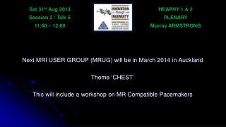 HEAPHY 1 & 2 PLENARY Murray ARMSTRONG