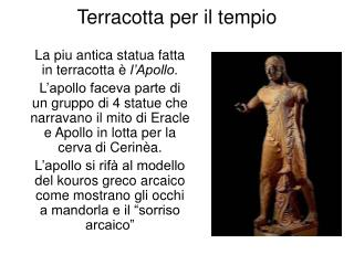 Terracotta per il tempio