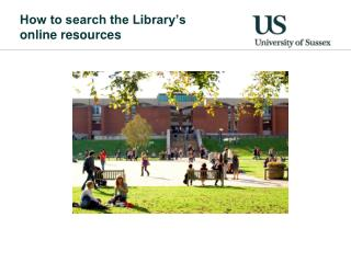 How to search the Library's  online resources