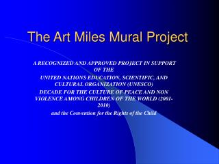 The Art Miles Mural Project
