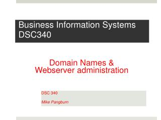 Business Information Systems DSC340
