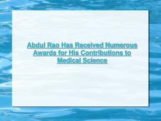 Dr. Abdul Rao USF