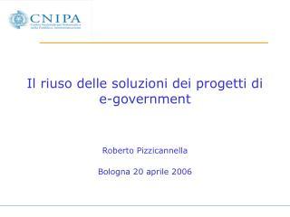 Il riuso delle soluzioni dei progetti di e-government