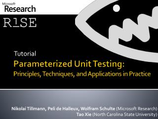 Parameterized Unit Testing: Principles, Techniques, and Applications in Practice
