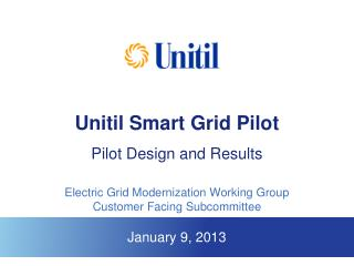 Unitil Smart Grid Pilot Pilot Design and Results