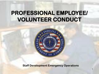 Staff Development Emergency Operations