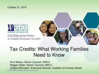 Tax Credits: What Working Families Need to Know